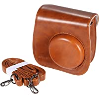 Kraptick Artficial Leather Camera Case Bag Cover Single Shoulder Bag for Fuji Fujifilm Instax Mini 8/8s/8+/9 (Brown)