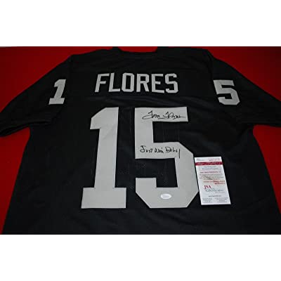 Tom Flores Signed Jersey - custom Witnessed COA just win baby - JSA  Certified - Autographed NFL Jerseys f5bd27015