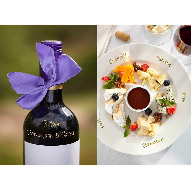 met/álico Colores HHOOMY Vino Marcador de Copa de Vino Paquete de 8 de Uso en Todos los de Cristal y de cer/ámica de Evento