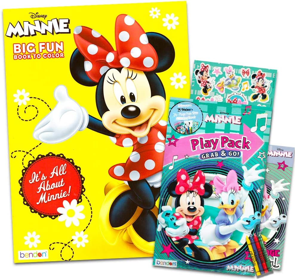 - Amazon.com: Minnie Mouse Coloring And Activity Book Set - 1 Jumbo