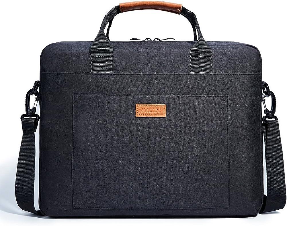 KALIDI Laptop Bag, Notebook Briefcase Messenger Shoulder Bag for Dell Alienware/MacBook/Lenovo/HP, Travelling, Business