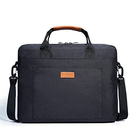 Review KALIDI Laptop Shoulder Bag, 17.3 inch Notebook Briefcase Messenger Bag for Dell Alienware/MacBook / Lenovo/HP, Travelling, Business, College and Office.