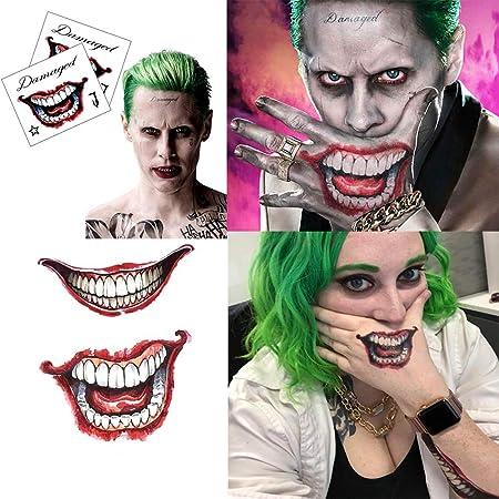 ZHONGYU Halloween Cicatrisation Temporaire Tatouages ...
