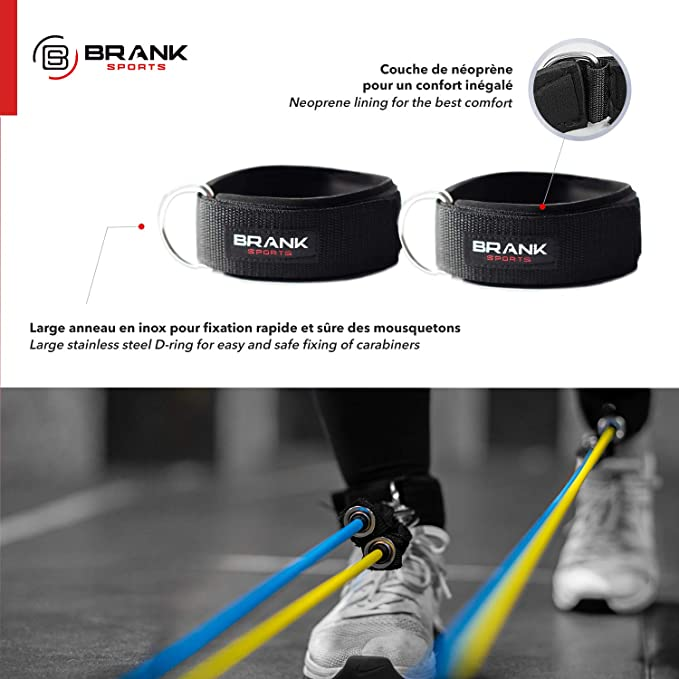 Bandas elasticas musculación con asas   Gomas elasticas fitness de 5 a 70kg   Pack de cintas elasticas para ejercicio en casa   Mujer y Hombre   ...