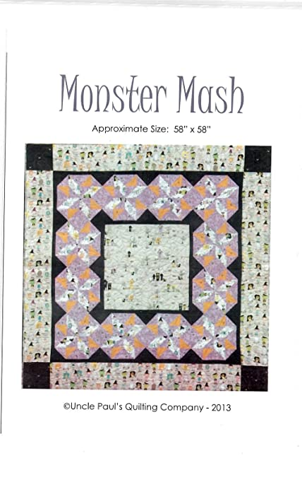 Amazon Monster Mash Quilt Pattern From Uncle Pauls Quilting