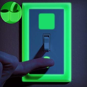 Lezed Cinta Luminosa Glow in the Dark Verde Cinta Autoadhesiva Tape Fluorescente Etiqueta de Seguridad Cinta Impermeable para Decoraci/ón Hogar y Signo de la Noche 10mm//0.39