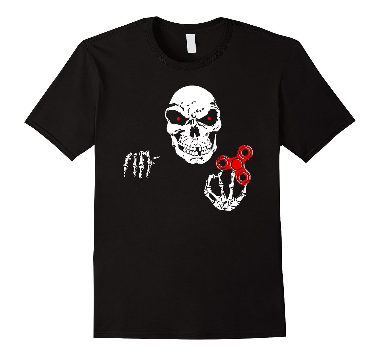 Skeleton Creepy Horror Fidget Spinner T-Shirt-TJ