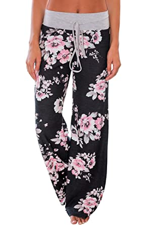 New Fashion Boho Women Floral Print Palazzo Trousers Ladies Wide Leg Flared Loose Pants Hot Grade Products According To Quality Bottoms