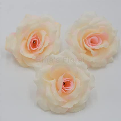 Amazon silk flowers wholesale 100 artificial silk rose heads silk flowers wholesale 100 artificial silk rose heads bulk flowers 10cm for flower wall kissing balls mightylinksfo