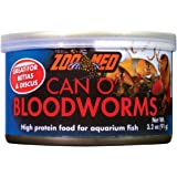 Zoo Med 78065 Can O' Bloodworms, 3.2 oz,Black