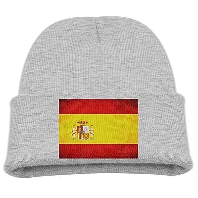 ZWZ Spanish Flag Kid's Hats Winter Funny Soft Knit Beanie Cap Children Unisex