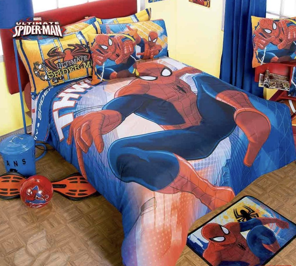 JORGE'S HOME FASHION INC LIMITED EDITION SPIDERMAN ATTACK KIDS BOYS COMFORTER SET 3 PCS QUEEN SIZE