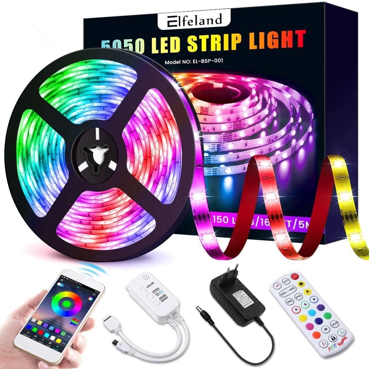Elfeland LED Strip 5 m RGB 5050SMD 150 LED Strips