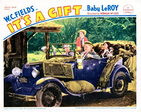 Posterazzi It S A Gift Us Lobbycard From Left Kathleen Howard Tommy Bupp W C Fields Jean Rouverol 1934 Movie Masterprint Poster Print 14 X 11 Posters Prints