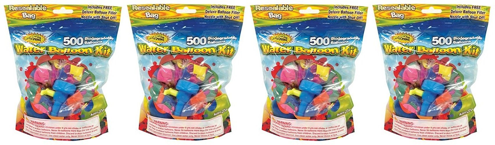 Water Sports Water Balloon Refill Kit, 4Pack of 500 by Water Sports
