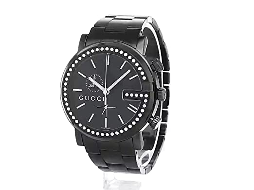 f34ad1edcca Amazon.com  Gucci G-Chrono Black PVD with Diamond Accents Men s Watch(Model  YA101340)  Watches