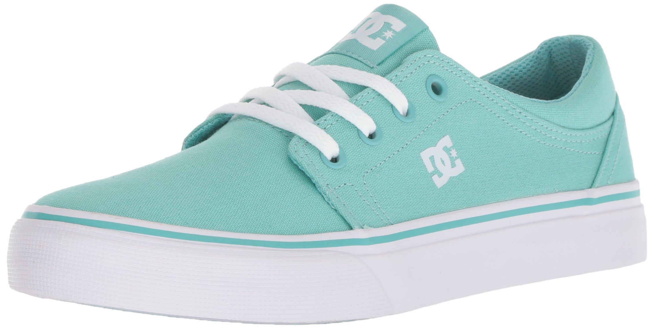 DC Girls' Trase TX Skate Shoe, Pool Blue, 3.5 M US