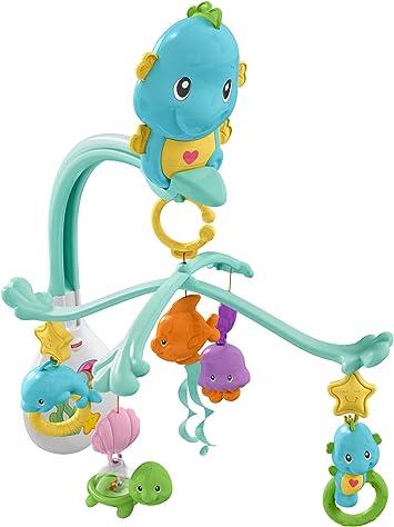 Oferta amazon: Fisher-Price Móvil musical caballito de mar, para bebé +0 meses (Mattel DFP12)