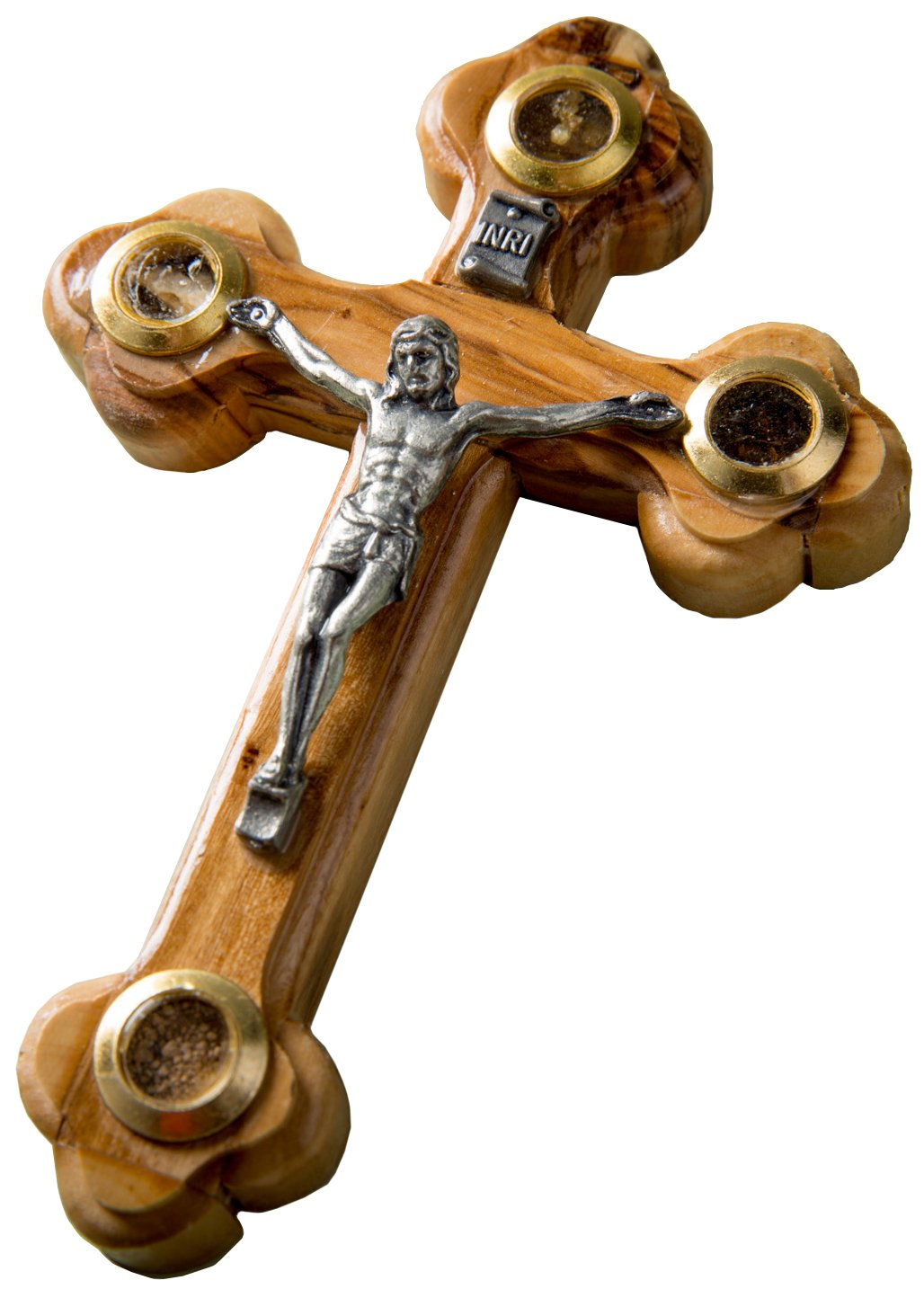 EARTHWOOD FINE WOOD PRODUCTS CC-08 Olive Wood Orthodox Wall Cross with Windows Brown