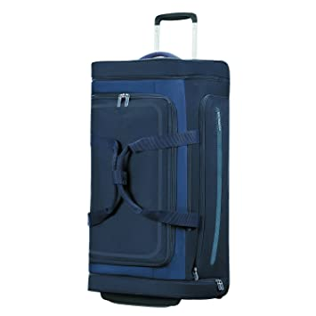 American Tourister Airbeat - Wheeled Duffle Bag 76/28 Bolsa de Viaje, 76 cm, 86 Liters, Azul (True Navy): Amazon.es: Equipaje