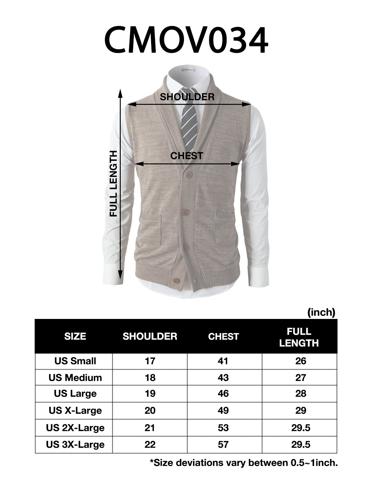 H2H Mens Casual Basic Shawl Collar Fine Knitted Slim Fit Vest Navy US L/Asia XL (CMOV034) by H2H (Image #7)