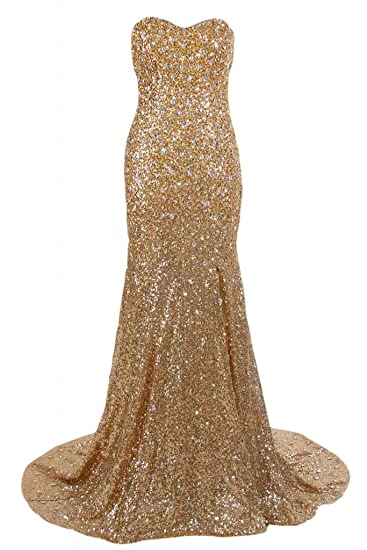 Sunvary Luxury Sweetheart Neckline Plus Size Prom Dress Pageant Gowns Evening Dresses-6-Gold