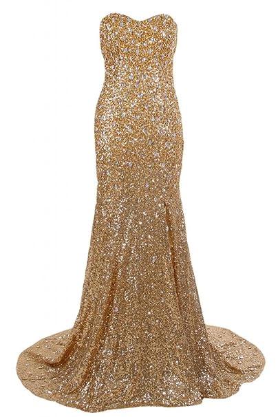 Sunvary de corazones cuello Plus tamaño vestido de prom Pageant fiesta Evening vestidos Dorado dorado 20W