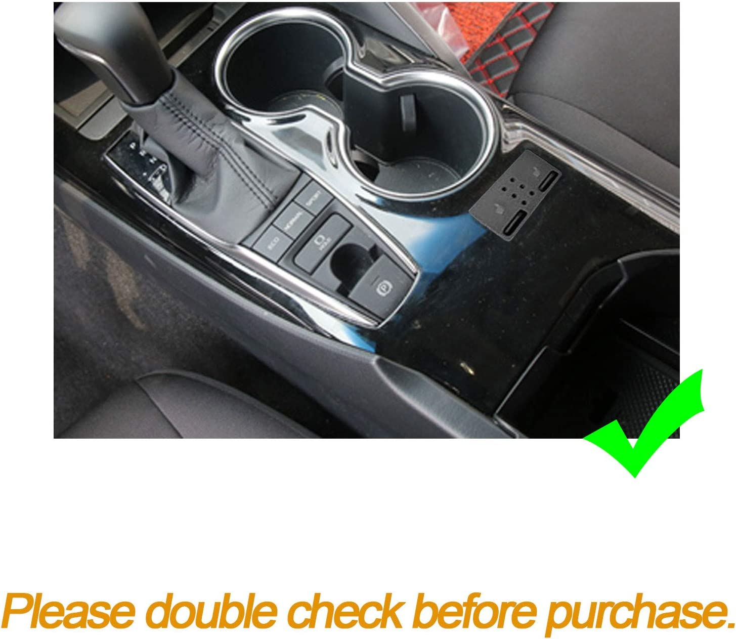 Xotic Tech Carbon Fiber Pattern Gear Shift Knob Console Panel Trims Cover Cup Holder Decor Decal for Toyota Camry 2018+