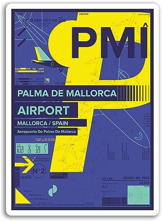 2 x 10 cm Palma de Mallorca - España pegatinas de vinilo etiqueta engomada del viaje # 17451 (10 cm de altura): Amazon.es: Hogar