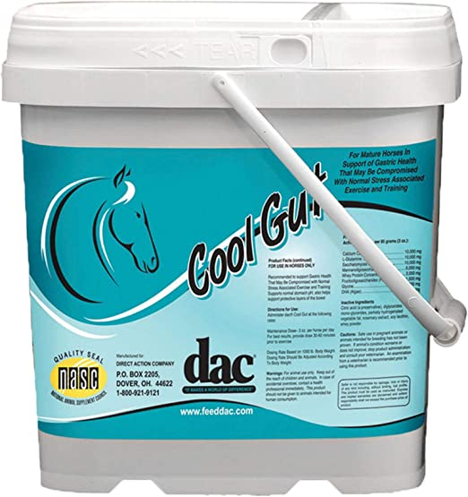 DAC Cool Gut 5 lb Mature Horse Supports Gastric Stomach pH Health Bowel Layers Supplement