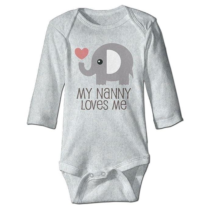 Amazon.com: Mono de manga larga para bebé con elefante y ...