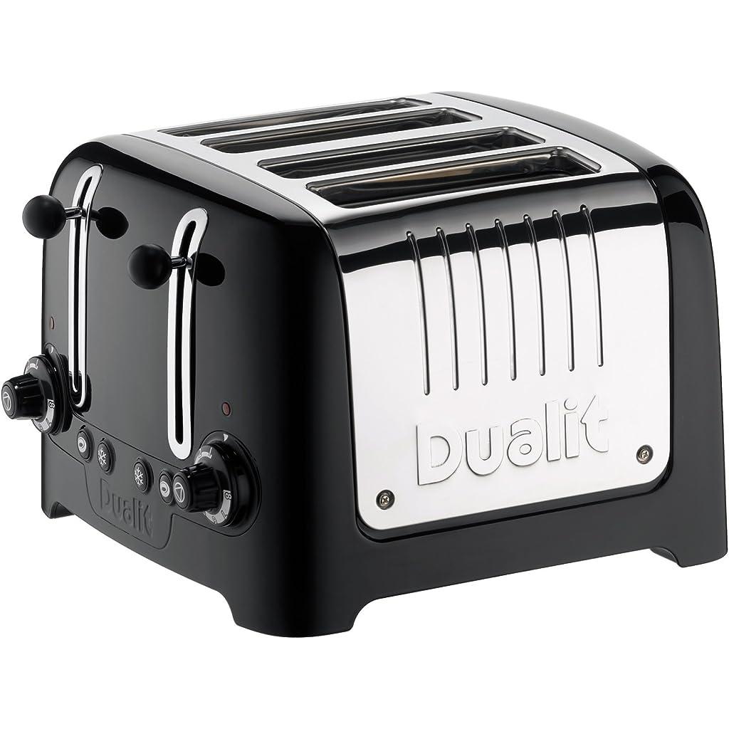 Dualit 4 Slot Lite Black Toaster