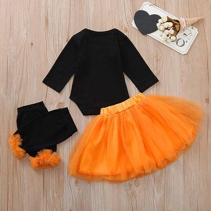 52be2f469 Amazon.com: 3PC Toddler Newborn Baby Girls Autumn Cute Letter Heart Romper+Tutu  Skirt+Legging Halloween Clothes Sets: Clothing