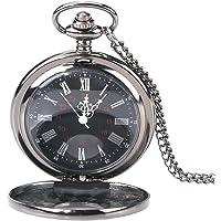 Reloj de bolsillo retro, reloj de bolsillo con cadena, reloj de cadena para mujer y hombre reloj de cuarzo analógico con…