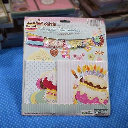 Asian Hobby Crafts DIY Card Making Kit Birthday Theme