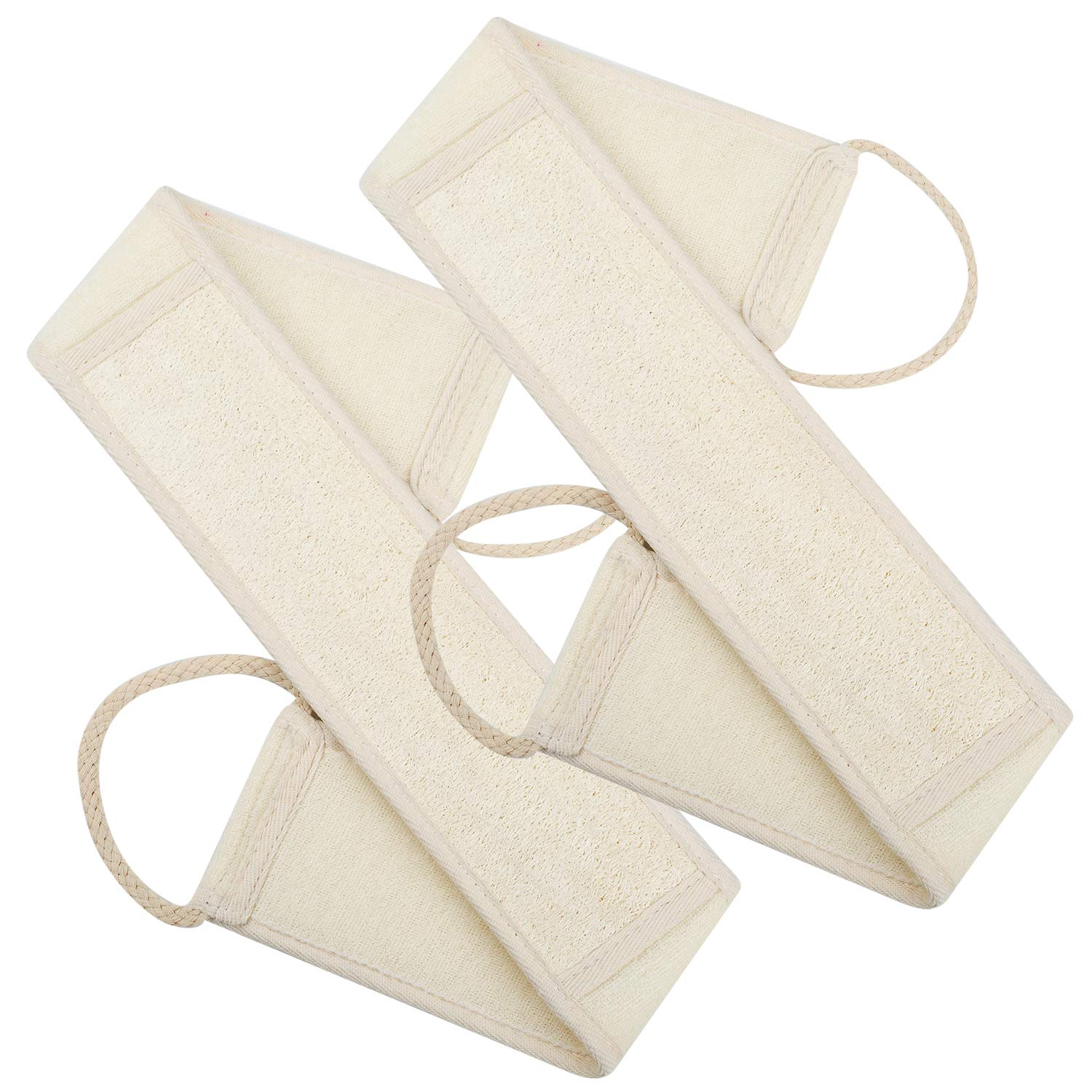 100% Natural Loofah Exfoliating Body Washcloths Sponge Scrubber for Skin Care in Bath, Spa or Shower Pack of 3 Lifaith 5848058