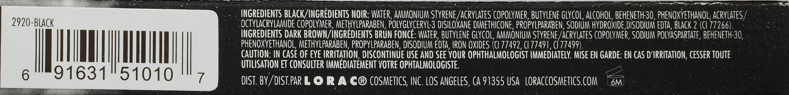 LORAC Front of the Line PRO Liquid Eyeliner, Black by LORAC (Image #3)