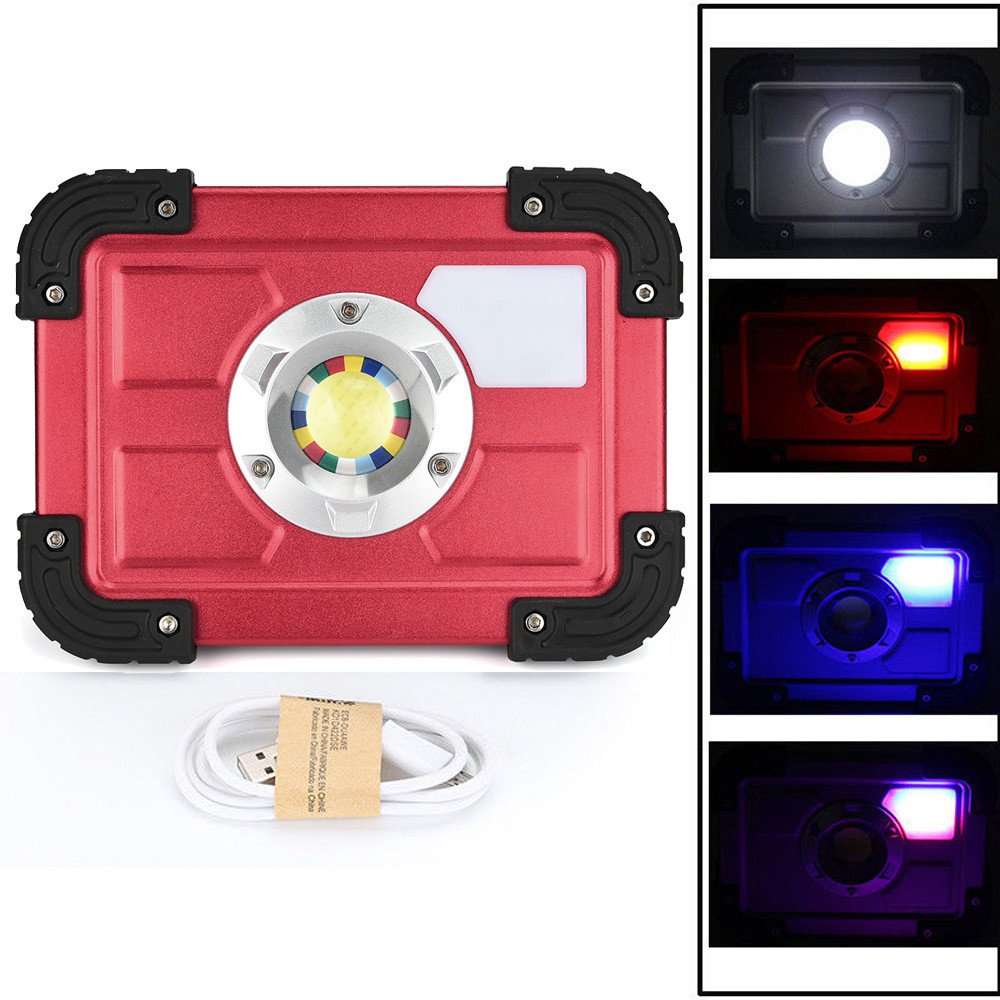 30W COB LED Rechargeable Flood Light Spot Work Camping Fishing Outdoor Lawn Lamp by Dressffe by Dressffe (Image #3)