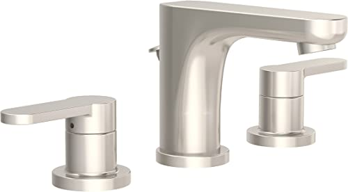 Symmons SLW-6712-STN-1.5 Identity Widespread 2-Handle Bathroom Faucet with Drain Assembly in Satin Nickel 1.5 GPM