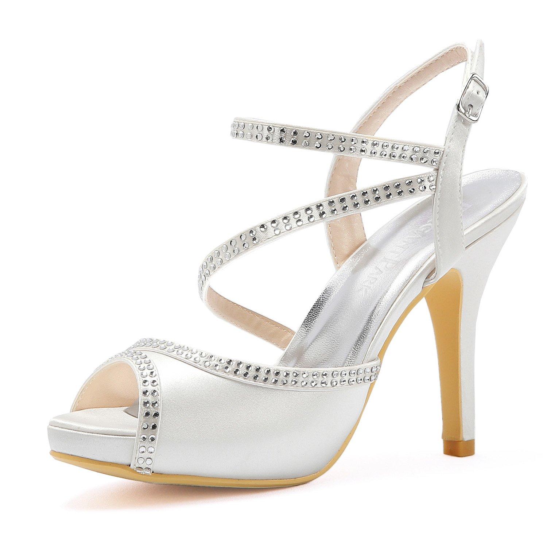 Elegantpark 18695 HP1805I B078YX4GDJ Femme Satin Peep Toe Plate-Forme Talon Haut Sandales Strass Sangle Boucle Satin Chaussures de Mariée de Mariage Blanc 7e5fd43 - epictionpvp.space