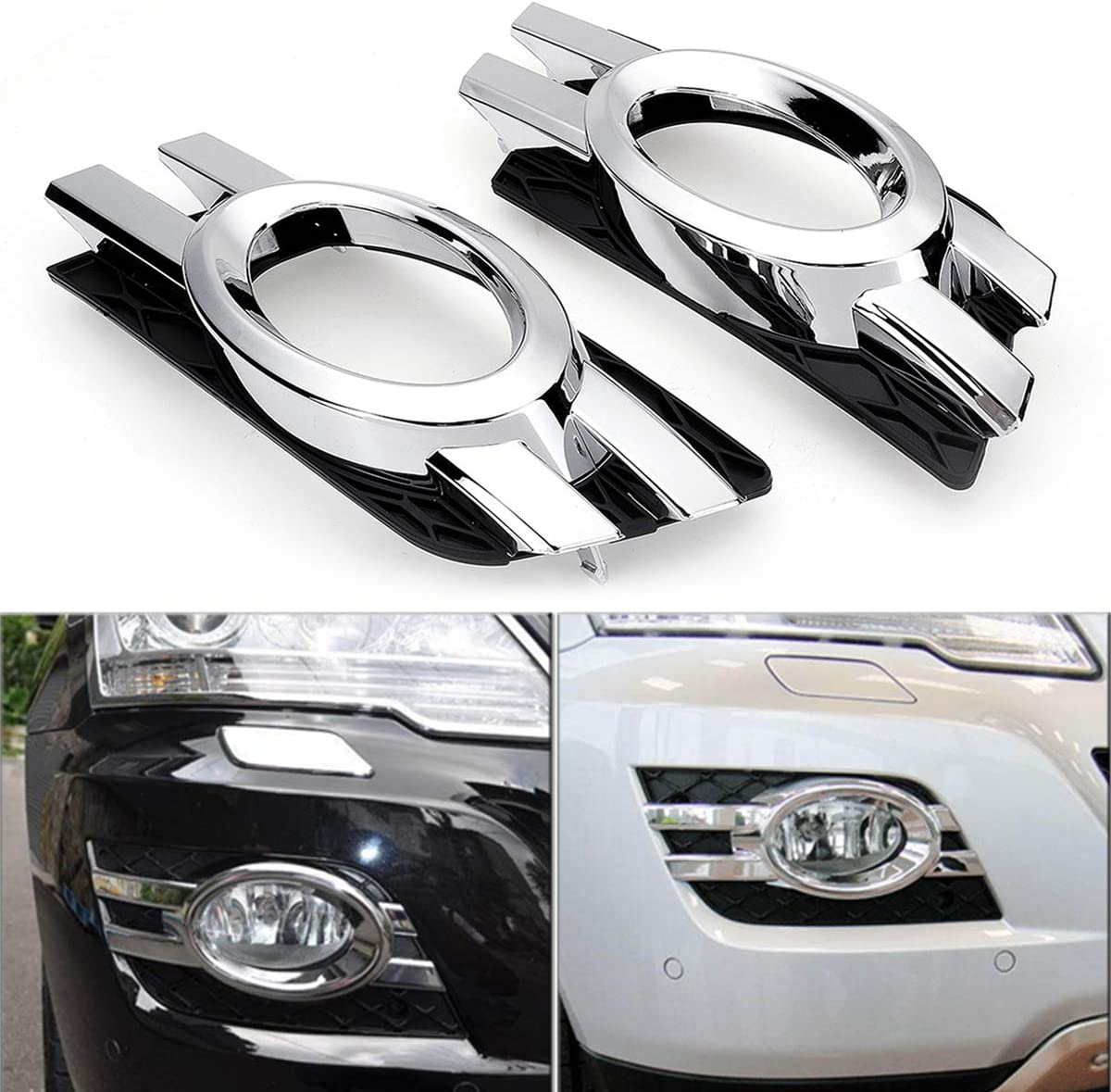 AVANI EXCHANGE Cache enjoliveur chrom/é pour Mercedes-Benz Classe ML W164 2008-2011