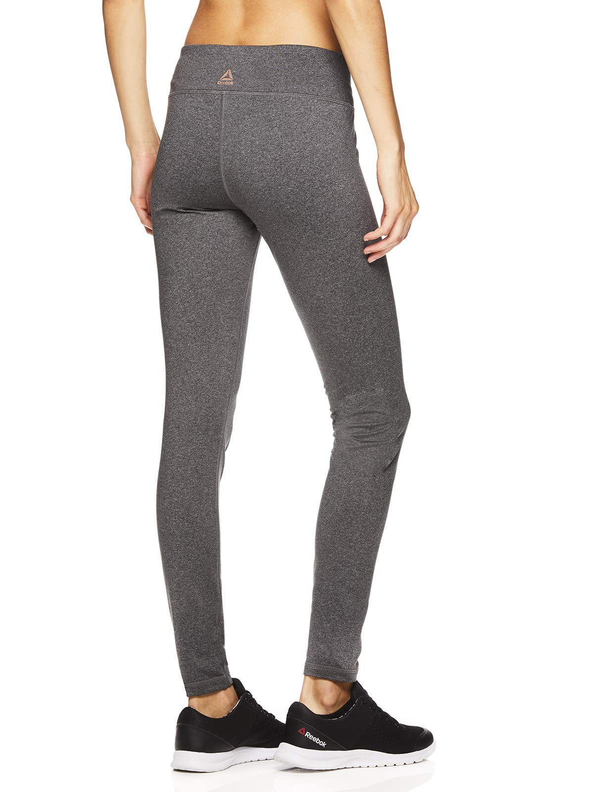Reebok Women's Fleece Lined Legging - Full Length Performance Compression Workout Pants
