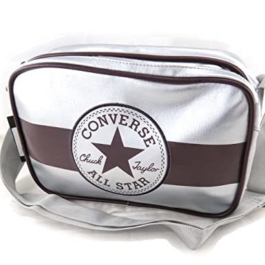fe70d1131f18 Amazon.com  Shoulder bag  Converse  silver.  Clothing