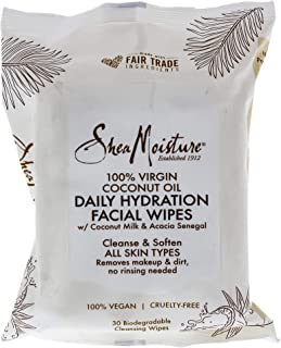product image for Shea Moisture 100 Percent Virgin Coconut Oil Daily Hydration Facial Wipes for Unisex, 30 Count
