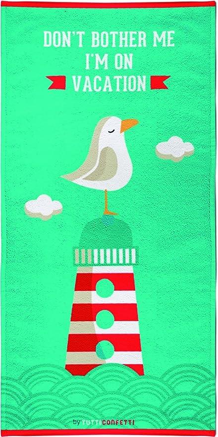 Textil Tarragó Tutti Confetti Toalla de Playa, Algodón, Verde Menta, 30x40x3 cm