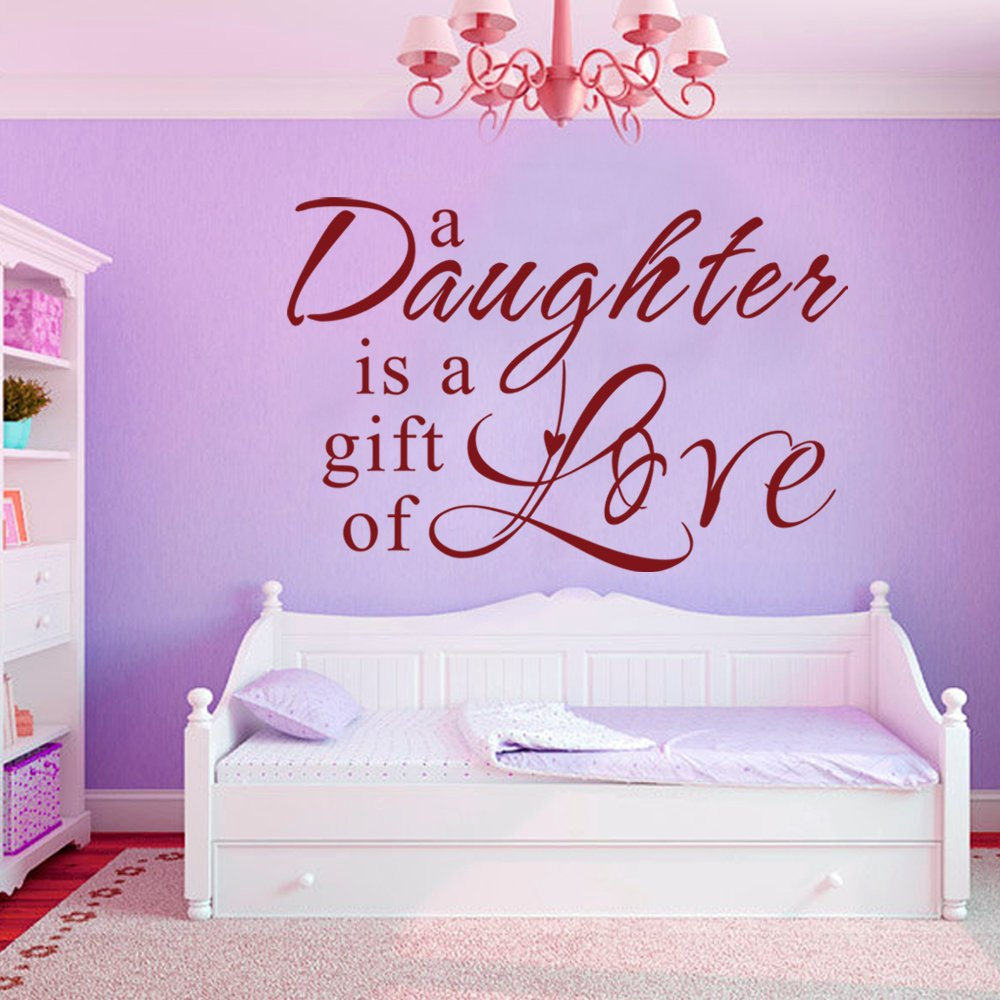 Amazon a daughter is a gift of love daughter wall decal amazon a daughter is a gift of love daughter wall decal love quotes for girls room black small home kitchen amipublicfo Choice Image