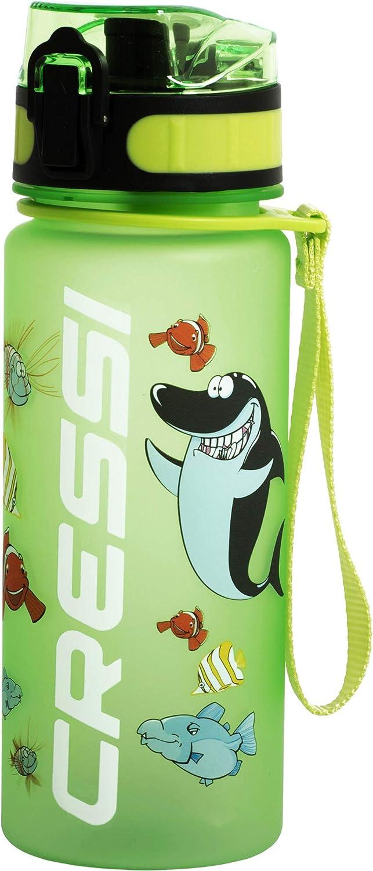 Cressi Water Bottle H20 Frosted Botella para Uso Deportivo, Adultos Unisex, Verde, 400 ml