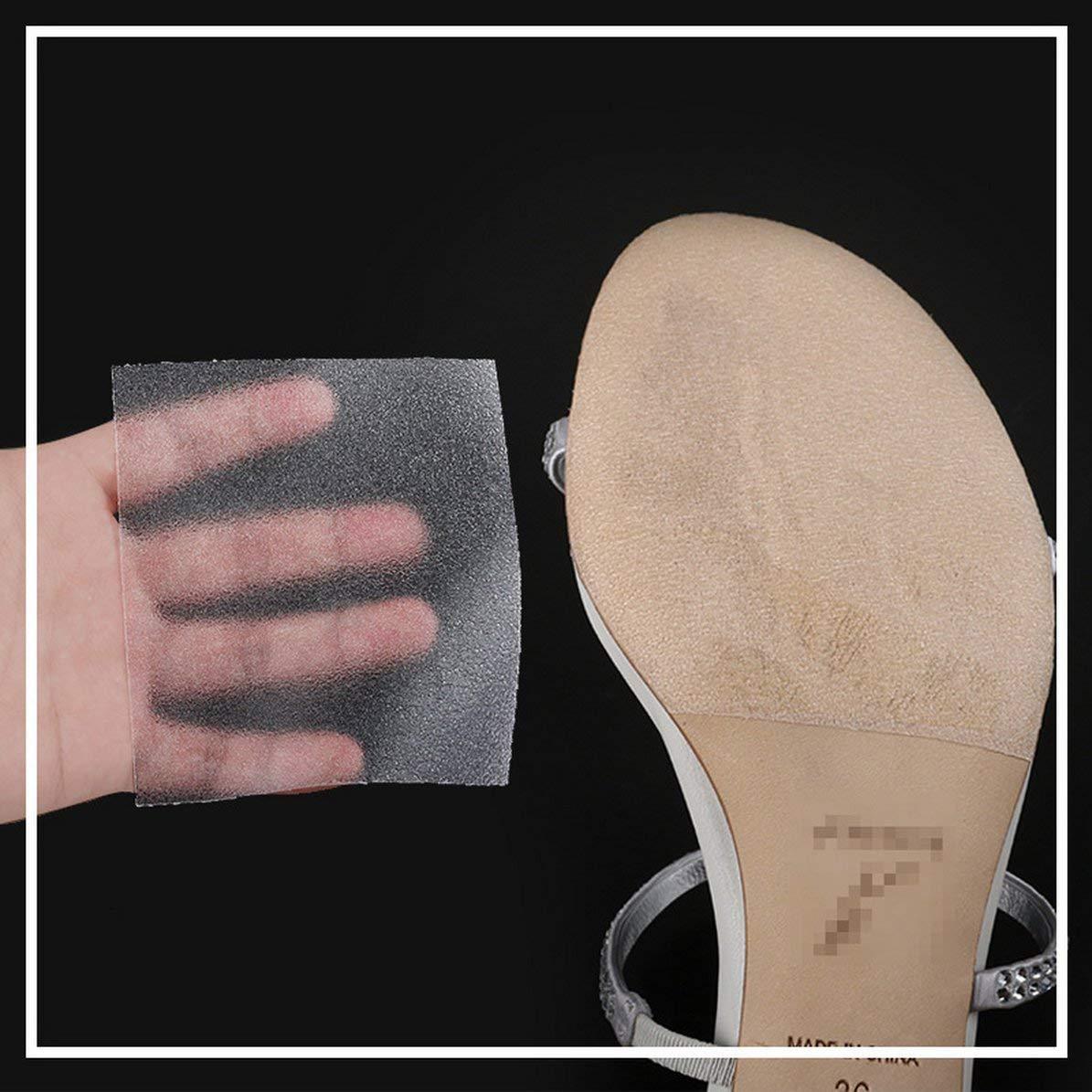 Suela Pegatina Crystal Clear Almohadillas Autoadhesivas Suela Protector Calzados para Zapatos Zapatillas Antideslizantes Suela de Cubierta Pegatinas de antepi/é WEIWEITOE