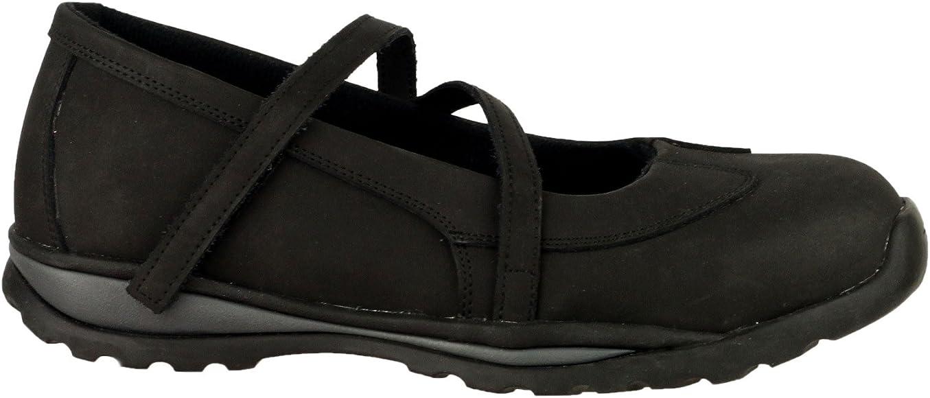 Black Leather Mary Jane Safety