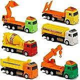 Camion Giocattoli Mini Costruzioni Auto Pull Back Autos Giochi per Bambini 3 anni, 6 Pezzi